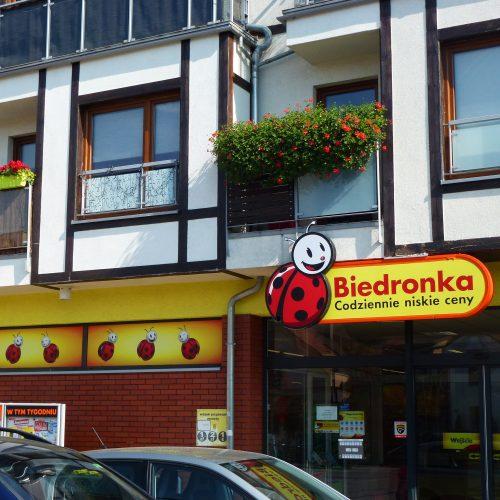 Biedronka w Puszczykowie fasada