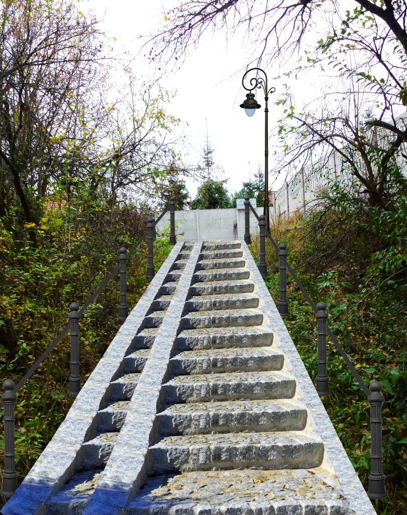 Kręta -wizualizacja schodów