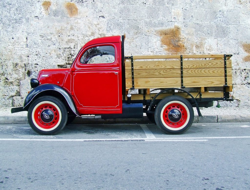 stylowa ciężarówka